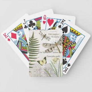Cubierta de las libélulas del vintage de tarjetas barajas de cartas