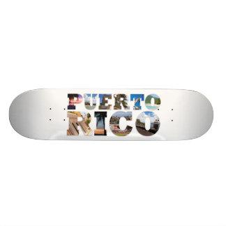 """Cubierta de las señales de Puerto Rico Patineta 7 3/8"""""""