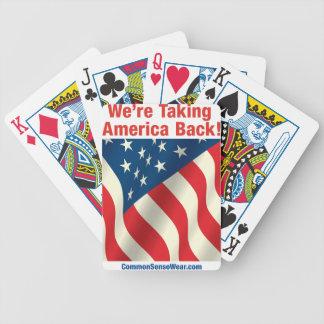 Cubierta de las tarjetas - patrióticas - retire Am Cartas De Juego