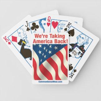 Cubierta de las tarjetas - patrióticas - retire Am Barajas