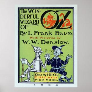 Cubierta de libro 1900 del mago de Oz nuevo Póster