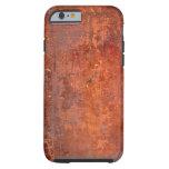 Cubierta de libro antigua encuadernada del cuero funda de iPhone 6 tough