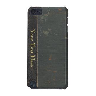 Cubierta de libro antigua retra de la lona, límite funda para iPod touch 5G