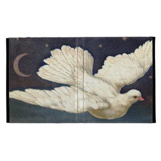 Cubierta de libro blanca del iPad de la paloma del