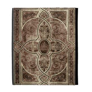 Cubierta de libro de cuero adornada antigua