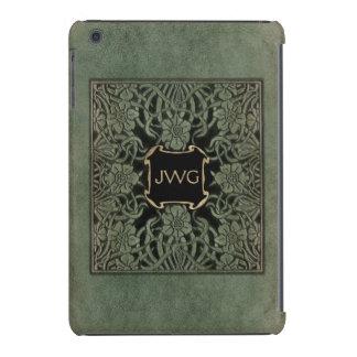 Cubierta de libro de cuero adornada antigua del mo fundas de iPad mini