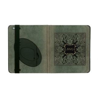 Cubierta de libro de cuero adornada antigua del mo iPad cárcasas