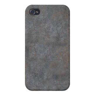 Cubierta de libro de cuero antigua apenada y lleva iPhone 4 coberturas