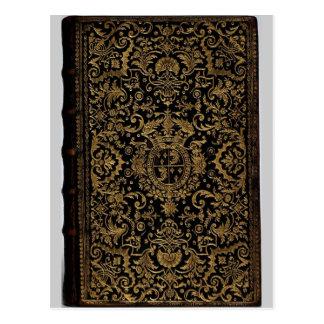 Cubierta de libro de cuero francesa antigua de Dub Tarjetas Postales