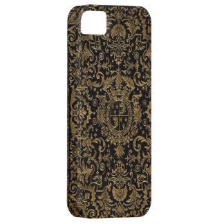 Cubierta de libro de cuero francesa antigua de iPhone 5 Case-Mate cobertura