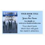 Cubierta de libro de la promoción del autor del es tarjeta personal