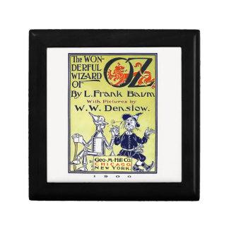 Cubierta de libro de mago de Oz del vintage Cajas De Recuerdo