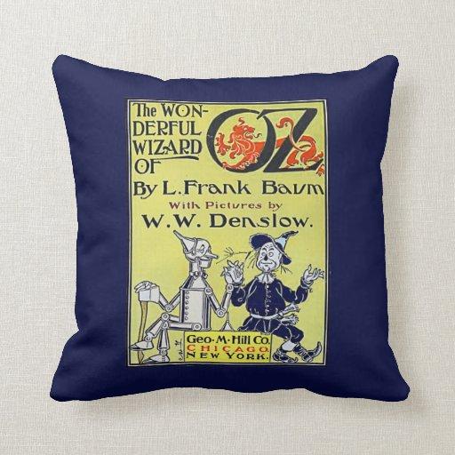 Cubierta de libro de mago de Oz del vintage Cojin