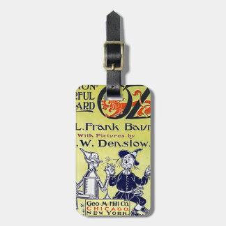 Cubierta de libro de mago de Oz del vintage Etiqueta Para Equipaje