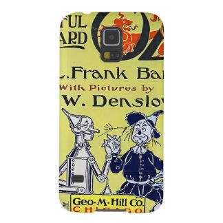 Cubierta de libro de mago de Oz del vintage Carcasas De Galaxy S5