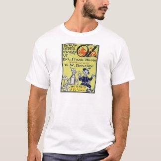 Cubierta de libro de mago de Oz del vintage Playera