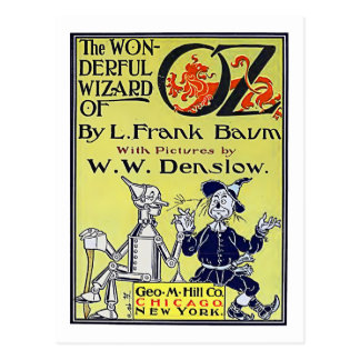 Cubierta de libro de mago de Oz del vintage Postal