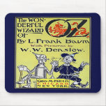 Cubierta de libro de mago de Oz del vintage Alfombrillas De Raton