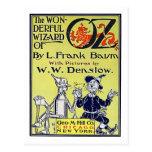 Cubierta de libro de mago de Oz del vintage Postales