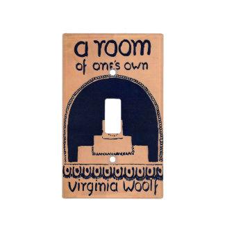 Cubierta de libro de Virginia Woolf un cuarto de Cubierta Para Interruptor