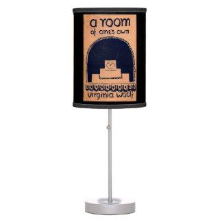 Cubierta de libro de Virginia Woolf un cuarto de l Lámpara De Mesilla De Noche