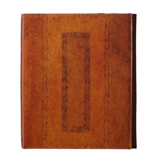 Cubierta de libro del cuero repujado