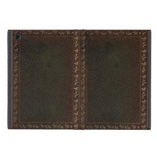 Cubierta de libro del cuero repujado iPad mini protector
