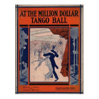 Cubierta de libro del tango del vintage postal