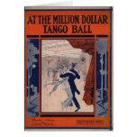 Cubierta de libro del tango del vintage tarjetón
