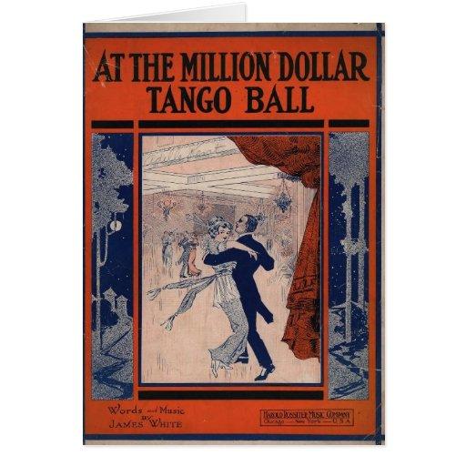 Cubierta de libro del tango felicitación