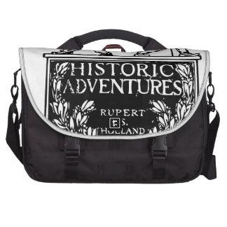Cubierta de libro del vintage - aventuras históric bolsas para portatil