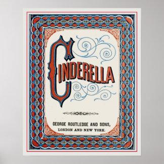 Cubierta de libro del vintage Cenicienta Posters