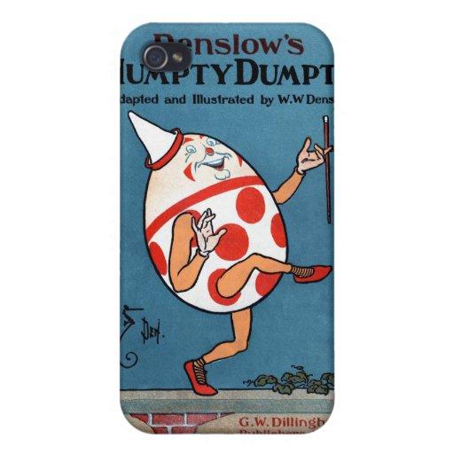 Cubierta de libro del vintage de Humpty Dumpty de  iPhone 4/4S Carcasas