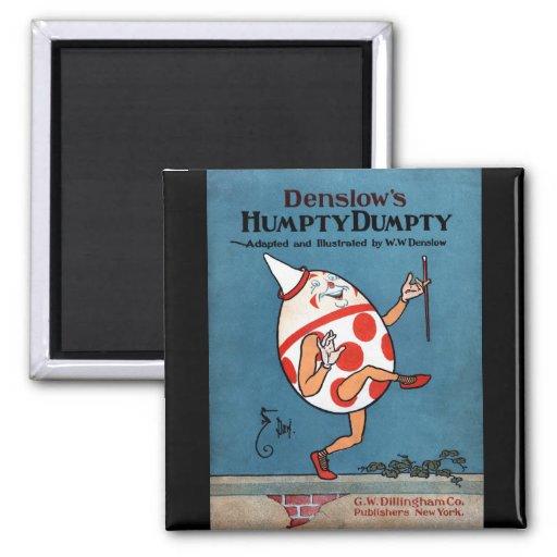 Cubierta de libro del vintage de Humpty Dumpty de  Imán Cuadrado