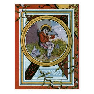 """Cubierta de libro del vintage de los """"pequeños tarjeta postal"""