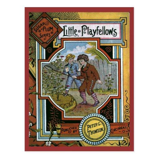 """Cubierta de libro del vintage de los """"pequeños tarjetas postales"""