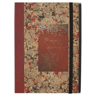 Cubierta de libro del vintage de los poemas de
