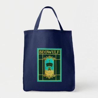 Cubierta de libro del vintage del de Beowulf Bolsas Lienzo