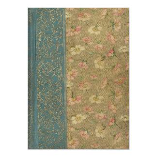 """Cubierta de libro del vintage invitación 5"""" x 7"""""""