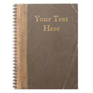 Cubierta de libro del vintage, límite retro de la cuaderno