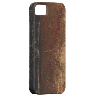 Cubierta de libro del vintage límite retro de la iPhone 5 protector