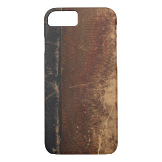 Cubierta de libro del vintage, límite retro de la funda iPhone 7