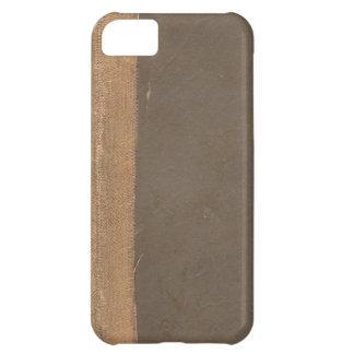 Cubierta de libro del vintage, límite retro de la  funda para iPhone 5C