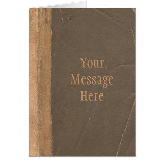 Cubierta de libro del vintage, límite retro de la  tarjeta de felicitación