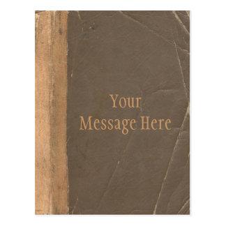 Cubierta de libro del vintage, límite retro de la  tarjetas postales