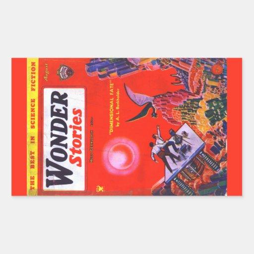 Cubierta de libro del vintage - un L Burkholder Pegatina Rectangular