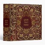 "Cubierta de libro dorada medieval carpeta 1 1/2"""
