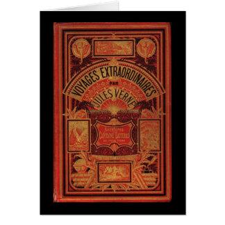 Cubierta de libro extraordinaria de los viajes de  tarjeta