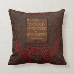 Cubierta de libro obligatoria antigua de Robin Hoo Almohada