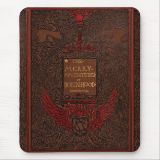 Cubierta de libro obligatoria antigua de Robin Hoo Tapetes De Ratón